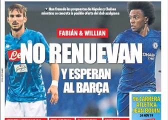MD: Fabián y Willian esperan al Barça