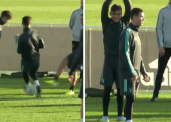 Watch: nutmegged Ronaldo's reaction after team mates jest