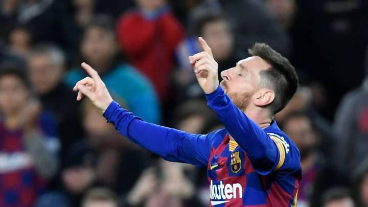 El delantero argentino del Barcelona, Leo Messi, durante un partido.