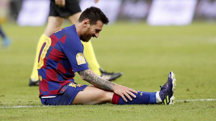 Messi, harto de estar solo