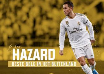 Hazard, the best Belgian player in a foreign league again