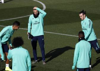 Benzema back in training ahead of Sevilla test