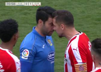 Fuenlabrada's Cristóbal red carded twice in three minutes
