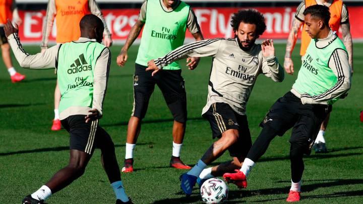 Casemiro, Carvajal y Lucas, ausencias en el entrenamiento