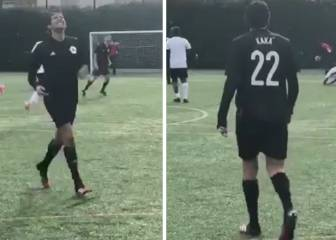 Kaká gets taste of his own medicine in amateur 6-a-side