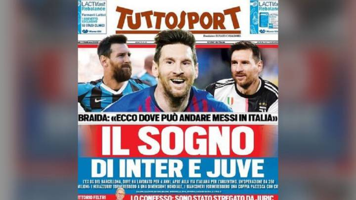 Italia sigue soñando con Messi