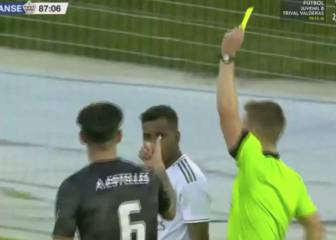 Rodrygo scores a stunner and is then sent off for provocation