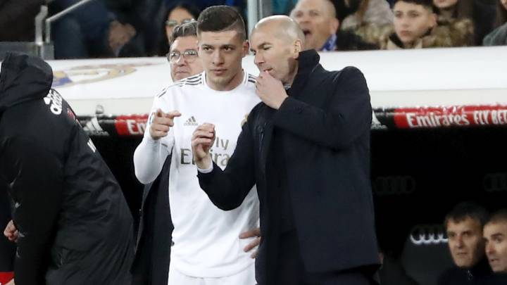 Zidane sends a clear message to Luka Jovic