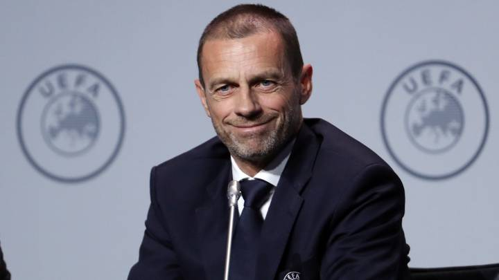 Aleksander Ceferin, durante la conferencia de prensa que ofreció en Ámsterdam después del último Congreso de la UEFA.