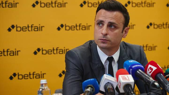 Berbatov, en una comparecencia como embajador de Betfair.