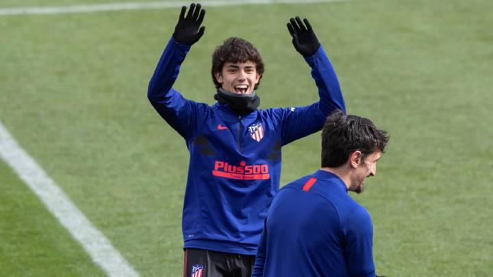 João Félix en el entrenamiento del Atlético de Madrid