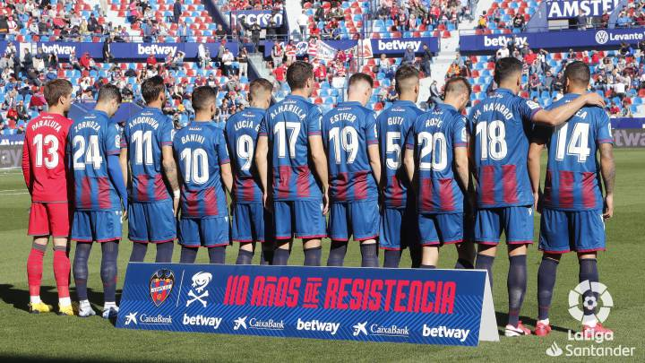 Levante wear femenino shirts for International Women's Day
