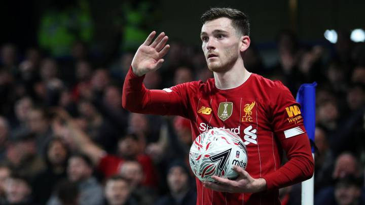 Soccer Football - FA Cup Fifth Round - Chelsea v Liverpool - Stamford Bridge, London, Britain - March 3, 2020  Liverpool's Andrew Robertson   REUTERS/Hannah Mckay
