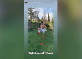 Asensio at home and working towards return