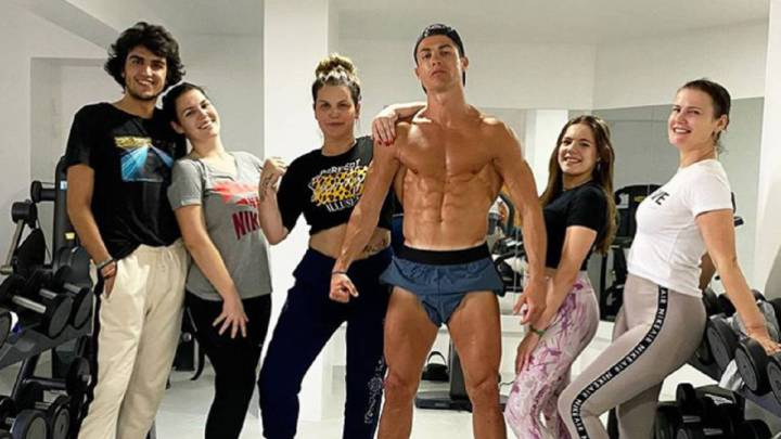 La imagen de Cristiano Ronaldo que subió a las redes sociales Katia Aveiro.