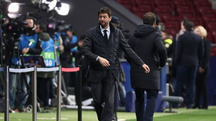 Soccer Football - Champions League - Round of 16 First Leg - Atletico Madrid v Juventus - Wanda Metropolitano, Madrid, Spain - February 20, 2019  Juventus chairman Andrea Agnelli before the match    REUTERS/Sergio Perez