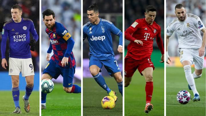 Vardy, Messi, Cristiano, Lewandowski y Benzema. Estrellas e imprescindibles pasados los 30.