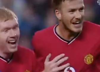 David Beckham's wonder strike against Deportivo