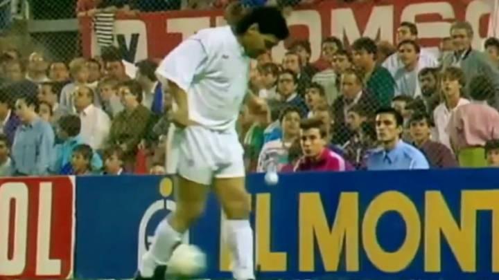El Sevilla disfrutó una temporada, la 92-93, de Diego Armando Maradona. Un año con Simeone y Suker, con Monchi y con Carlos Salvador BIlardo como técnico.