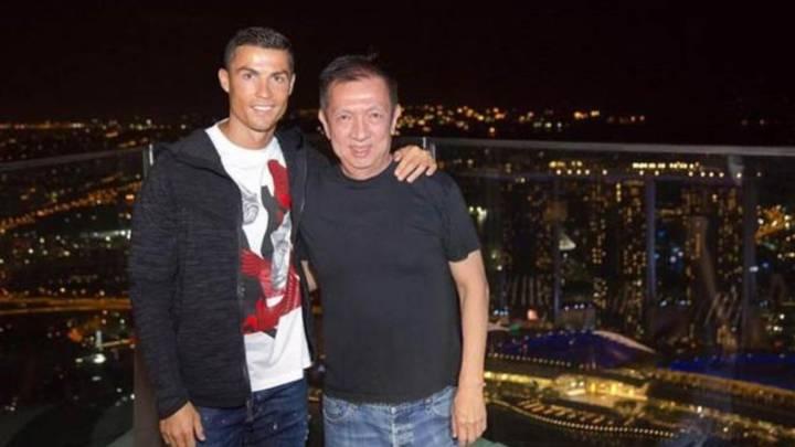 Cristiano Ronaldo felicita a Peter Lim por su generosa donación