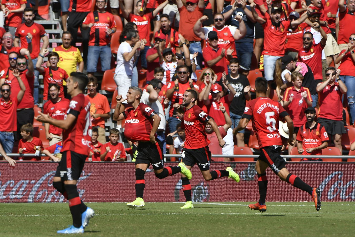 Alegría jugadores del Mallorca