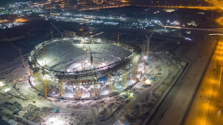 World Cup 2022 in Qatar: The outline of the Lusail Stadium takes shape