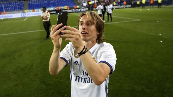 """El alirón de Modric en Málaga: """"¿Dónde está el trofeo?"""""""