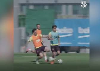 Magical Messi orchestrates nifty training-ground goal