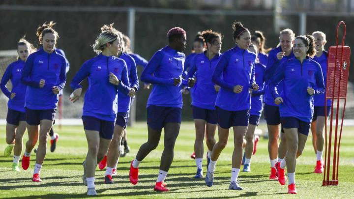 Jugadoras del Barça Femenino.