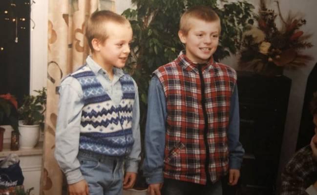Felix y Toni Kroos, de pequeños.