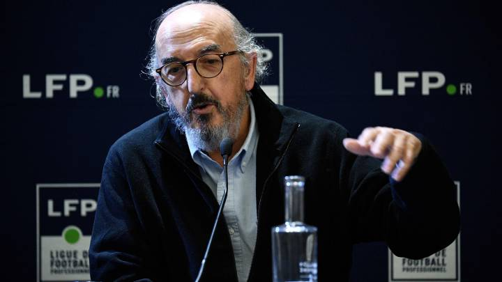 (FILES) In this file photo taken on December 12, 2019 CEO of Spanish production company Mediapro, Jaume Roures, gives a press conference in Paris. - Mediapro, future broadcaster of the French Ligue 1, still plans to launch its channel this summer and keep to the TV rights despite the pandemic, told AFP its CEO Jaume Roures. (Photo by FRANCK FIFE / AFP) PUBLICADA 23/04/20 NA MA14 1COL