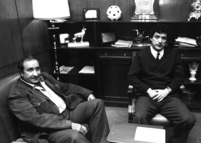 Jesús Gil y Ángel María Villar, presidentes del Atlético y de la RFEF