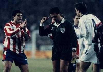 Brito Arceo, en un Real Madrid-Atlético.