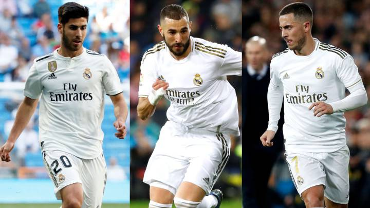 Zidane hoping to play his favoured trio of Asensio-Benzema-Hazard