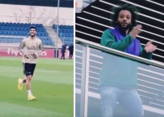 Marcelo gives Asensio a boost during his recovery