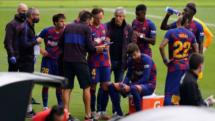 Barcelona players, Setien in dressing room fight after 2-2 draw with Celta Vigo