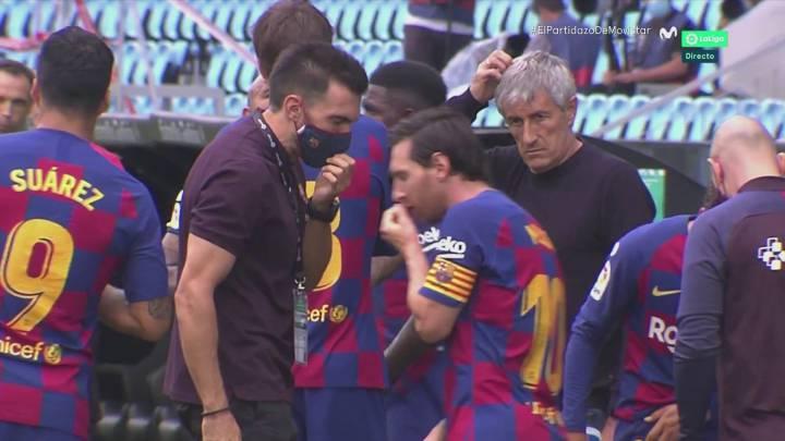 Barcelona | Tensión entre Messi y Eder Sarabia en una pausa en ...