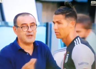 Cristiano visibly irked by Sarri instructions in Juve's derby win