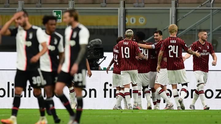 Remontada histórica del Milán: la Juve cae y hay liga