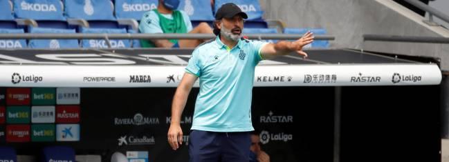 Rufete lleva un pleno de cinco derrotas como entrenador interino del Espanyol.