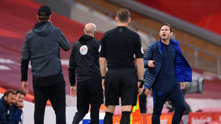 "Lampard tells Klopp to ""fuck off"" in heated clash during Liverpool-Chelsea"
