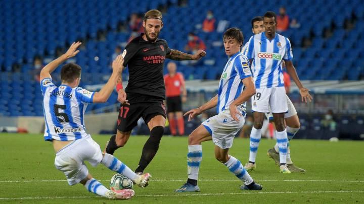 """El centrocampista del Sevilla Nemanja Gudelj afirma que aprendió mucho junto a Fabio Cannavaro en China y que Lionel Messi """"es sólo un oponente más""""."""