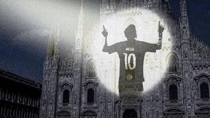 ¿Por qué el dueño del Inter promociona el partido ante el Nápoles con la silueta de Messi?