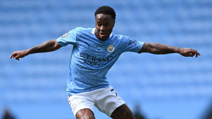 Sterling, con el Manchester City.
