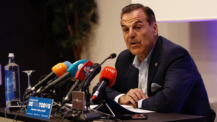 Fernando Vidal, en una comparecencia como presidente del Deportivo.