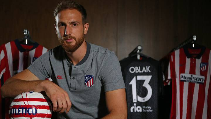 Jan Oblak durante su entrevista con AS.