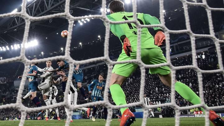 Cristiano marcó con este cabezazo el segundo de los tres goles que eliminaron al Atlético en 2019.
