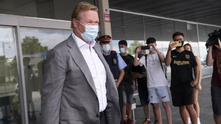 Koeman, a su llegada a Barcelona.