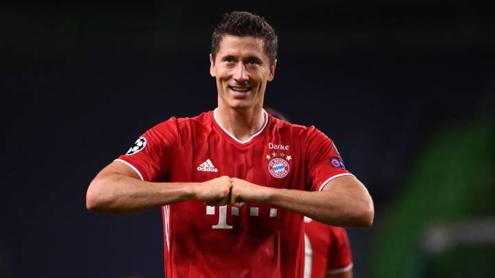 Robert Lewandowski, máximo goleador de la Champions League 2019/2020