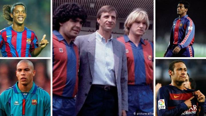 Los cracks del Barça siempre salen mal: Schuster, Maradona, Romario, Dinho, Neymar...